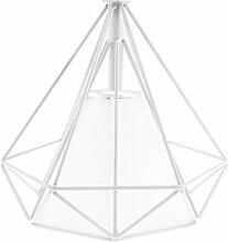 MagiDeal Kreativ vintage Lampenschirm Pendelleuchte Hängeleuchte Lampenschirm Wohnzimmer dekoration - Weiß-weiße Abdeckung