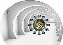 MagiDeal Kreative 3D Selbstklebende Wanduhr PVC Aufkleber für Wohnzimmer /Schlafzimmer ( Batteriebetrieben ), 20 Stile Auswählbar - #2
