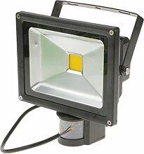 MagiDeal LED Fluter Flutlicht Strahler Garten Außen Lampe Licht Außenstrahler Wandstrahler mit Bewegungsmelder Outdoor - 20W Warmweiß