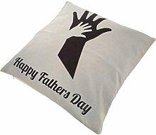 MagiDeal Leinen Kissenbezug Kissenbezüge Lendenkissen Sofa Kissenhuelle Haus Zimmer Auto Deko Geschenk für Vatertag - Mehrfarbig #17, 43 x 43cm
