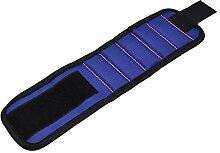 MagiDeal Magnetische Armbänder, mit Magneten - Magnet Armbänder für Werkzeuge, Schrauben, Nägel, Schrauben, Dübel, Bohrungen und kleine Werkzeuge, Nägel und Schrauben Tasche - Werkzeug Geschenk für DIY Handwerker, Vater, Ehemann, Freund, Männer - Blau