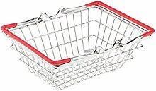 MagiDeal Mini Shopping Korb Spielzeug Kleidung Organizer Eimer Wäsche Schrank Box - Ro