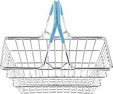 MagiDeal Mini Shopping Korb Spielzeug Kleidung Organizer Eimer Wäsche Schrank Box - Blau