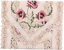 MagiDeal Modern Tischläufer gestickte Blumen mit Quaten - Rosa, 40cmx150cm