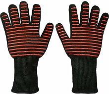 MagiDeal Ofenhandschuhe, Hitzebeständige Grillhandschuhe BBQ Handschuhe zum Kochen, Backen