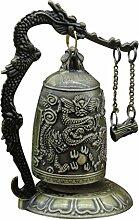 MagiDeal Orientalische Drachen Glocken mit Ständer , Fengshui Deko für Garten Tempel