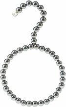 MagiDeal Perlen Schalbügel Kleiderbügel geeignet für Schal Tuch Krawatte Gürtel - Grau