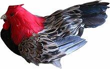 MagiDeal Realistische Künstliche Tier Figur Vogelfigur Garten Dekofigur Dekovogel Vogelskulptur - Henne
