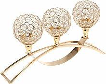 MagiDeal Romantische Kristall Kerzen Halter Ständer Leuchter Kerzenhalter Schöne Hochzeit Party Dekoration - Gold