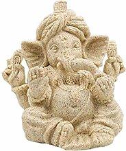 MagiDeal Sandstein Ganesha Buddha Elefanten Statue