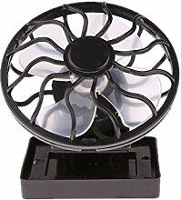 MagiDeal Solar Ventilator mit Mini-Solarzelle und Klemme - Solarlüfter, Tragbar / Clip-on Solar Sun Power Panel Fan