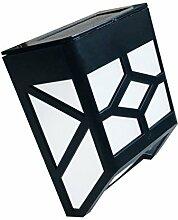MagiDeal Solar Wandleuchte, Solarleuchte Solarlampen Solar Aussenleuchte Außenwandleuchte Solar Gartenleuchten - Warmweiß