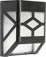 MagiDeal Solar Wandleuchte, Solarleuchte Solarlampen Solar Aussenleuchte Außenwandleuchte Solar Gartenleuchten - Weiß
