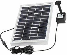 MagiDeal Solarpumpe Teichpumpe, Springbrunnen Pumpe, Solar Wasserpumpe Fontäne Pumpe für Gartenteich Springbrunnen - 5W 12V