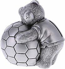 MagiDeal Spardose Metall Silber Sparbüchse