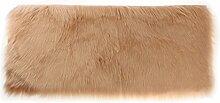 MagiDeal Teppich aus Polyester Fiber Weich Pelz Vorleger Fußmatte Spielmatte 60x120x6cm - kamelhaarfarbe
