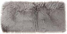 MagiDeal Teppich aus Polyester Fiber Weich Pelz Vorleger Fußmatte Spielmatte 60x120x6cm - Grau