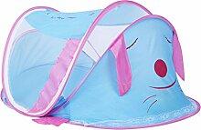 MagiDeal Tragbare Baby Bett Moskitonetz Reise Zelt mit 2-Wege-Reißverschluss für 0-2 Jahre Baby Kinder - Blau, 112x62x60cm