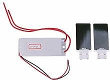MagiDeal Tragbare Ozongenerator Luftreiniger Kit mit 2 Ozon Keramikplatte - Weiß - 12 Vol