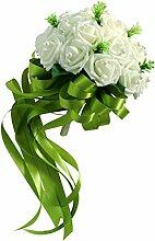 MagiDeal Vintage Foamrose Blumenstrauß