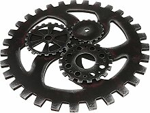 MagiDeal Vintage Industrial Style Wooden Gear Club