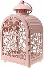MagiDeal Vintage Marokko Leuchter Kerzenhalter Kerzenständer Teelichthalter Rosa Haus Hochzeit Dekoration