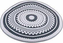 MagiDeal Weiche Runde Teppich Bodenteppich Kinderteppich Rutschfest für Wohnzimmer Schlafzimmer Kinder - Dunkelgrau 120cm