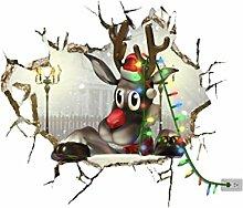 MagiDeal Weihnachten im Haus: 3D Weihnachts Wand