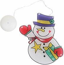 MagiDeal Weihnachten Schneemann Nachtlicht mit