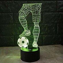 Magie 3D Fußball Touch Tischlampe 7 Farben