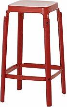 Magis matt Steelwood Hocker, Rot, Medium - 68cm