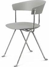 Magis - Officina Stuhl, verzinkt / grau metallic