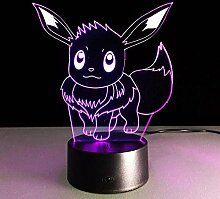 Magische 3D-Laterne, Led-Nachtlicht, Pikachu-Form