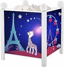 Magische Laterne Sophie in Paris Trousselier Schlummerlampe weiß