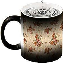 Magische Verfärbung Tasse Neuheit Design Blume