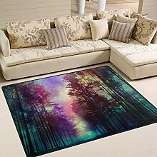 Magische Waldfläche Teppich 4 'x 6',