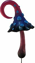 Magischer Rosa, Schwarz und Blau Miniatur Pilz für einen miniatur Feengarten. Ein Feengarten Gnome Accessoire - for the Fairy Garden