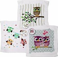 Magisches Handtuch 3er Eule Magic Towel Owl