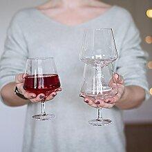 Magisso Pino Weinglas, Stapelbar, Handarbeit,