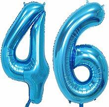 Magjuche 101,6 cm blaue Folie 46 Helium Jumbo