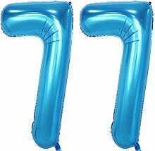 Magjuche 101,6 cm blaue Folie, 77 Helium,
