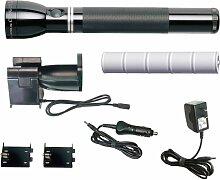 Maglite Re1019Schwere wiederaufladbare Halogen Taschenlampe System, schwarz