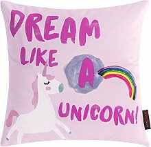 MAGMA Kissen Einhorn - Dream Like A Unicorn 40 x 40 cm