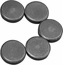 Magnet-Ø 20 x 5 mm, schwarz, 5-teilig, Rayher -