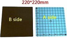 Magnet-Aufkleber, 3D-Drucker, 220 x 220 mm, Blau,