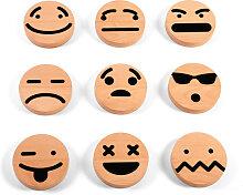 Magnet Emojis aus Holz, wodibow