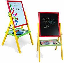 Magnet Kindertafel 79x43cm farbig Zubehör Schreibtafel Maltafel Holz Tafel Magnettafel