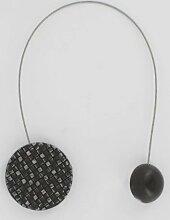 Magnet-Raffhalter, Kreis, Mosaikartig, Schwarz,