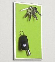 Magnet - Schlüsselbrett aus Edelstahl, mit Filz