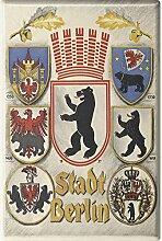 Magnet - Wappen Berlin - Gr. ca. 8 x 5,5 cm -